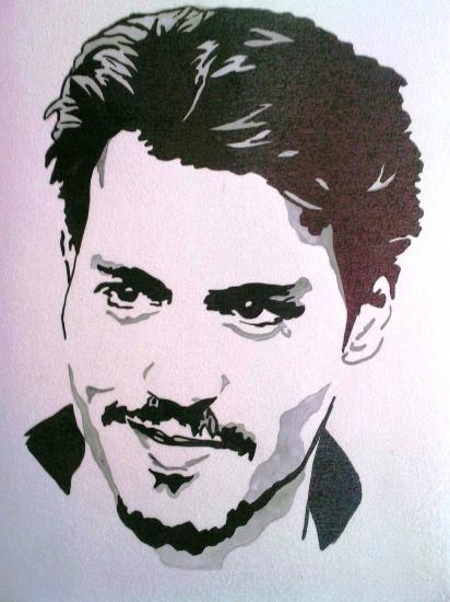 Portrait de johnny depp par amandoupaint sur stars portraits 1 - Dessin johnny depp ...